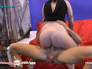 Rimming bj & Fucking on Casting Couch - GermanGooGirls